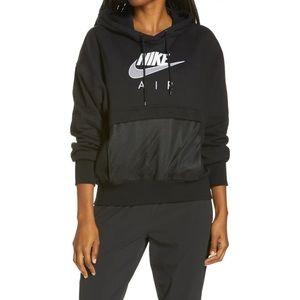 Nike Women's Logo Mesh-Trim Hooded Sweatshirt
